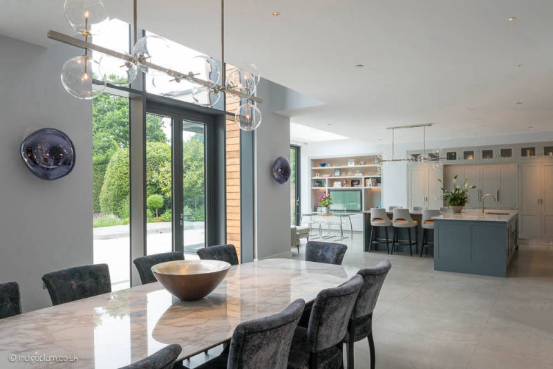 Dining area in a bespoke new build house
