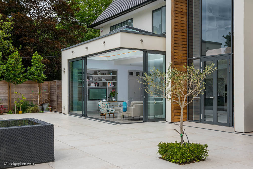 Glazing and sliding glass doors in a luxury North London new build house