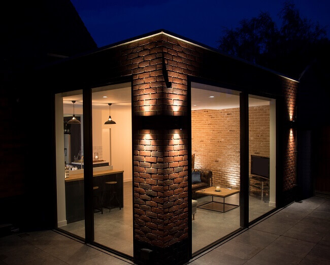 Wrap around house extension