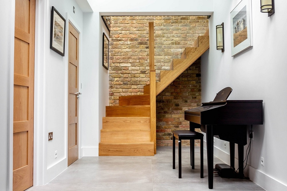 Basement extension in North London Hampstead