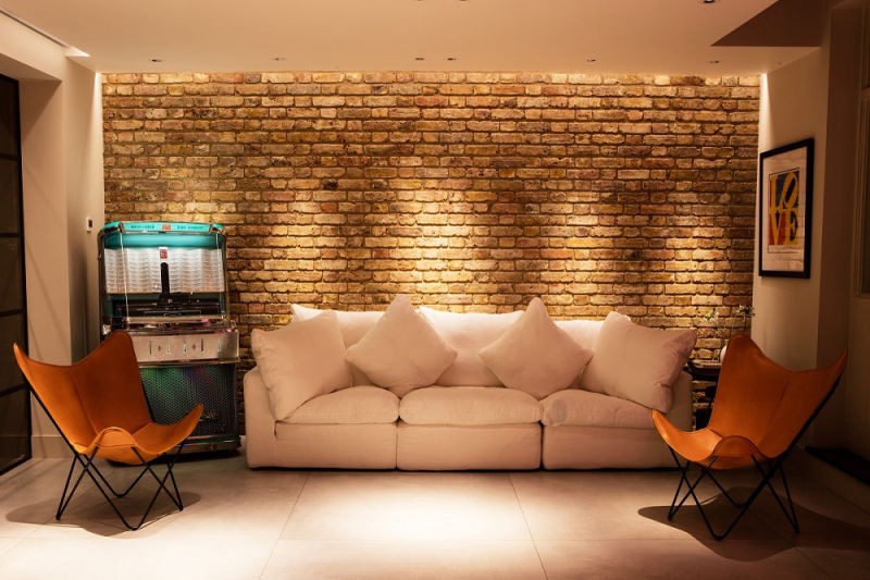 Exposed Brick Wall in a Rear Home Extension in Barnet
