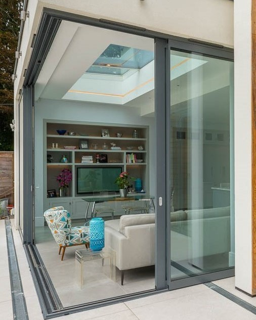 House extensions ideas sliding glass doors