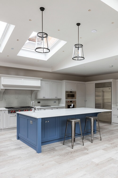 Kitchen island in a London extensions