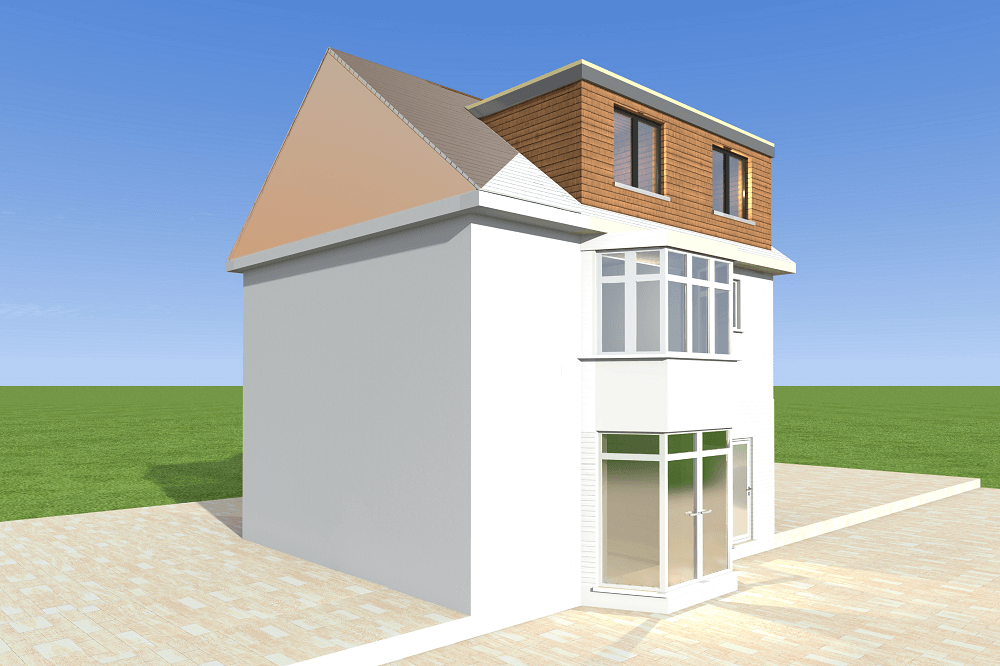 house with a hip to gable extension and a dormer loft conversion