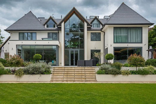 Completion of a luxurious new build house construction
