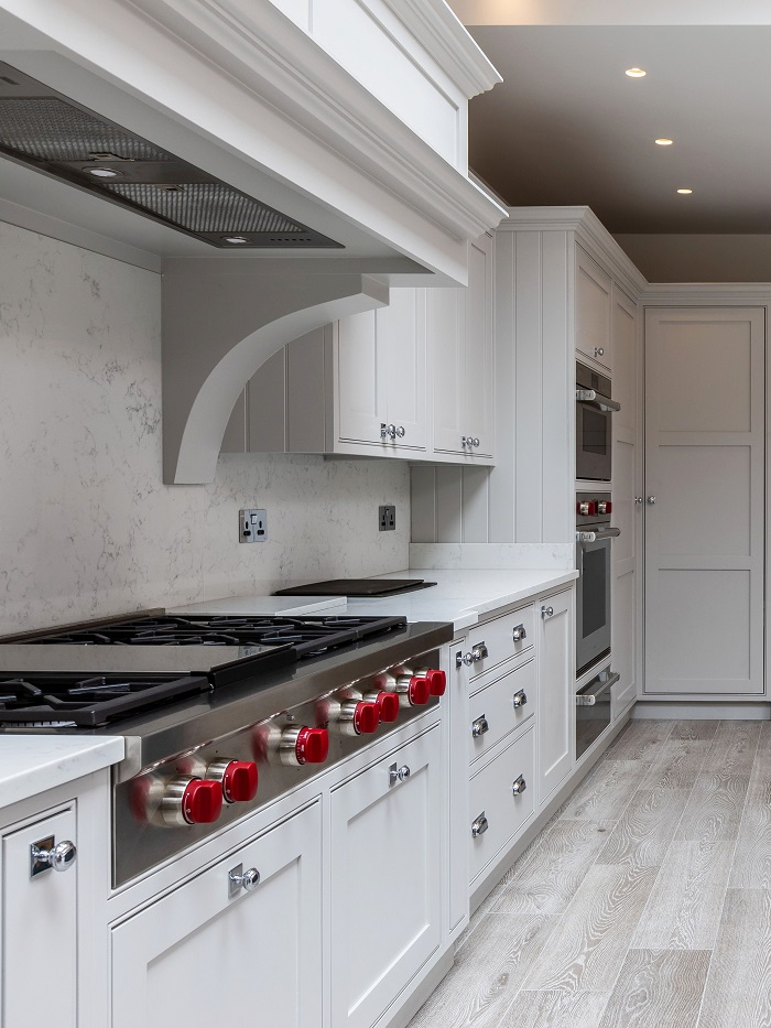 Shaker cabinets and units in a newly decorated kitchen