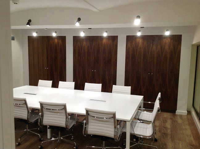Office in Central London with bespoke joinery