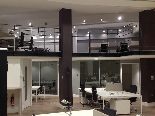 Large two storey office renovation in Central London