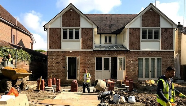 Preparing for house extension construction