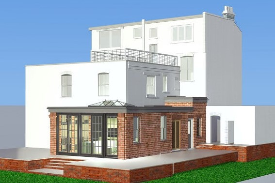 Design of single storey extension in north London
