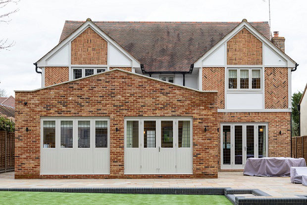 Single storey rear house extension in London