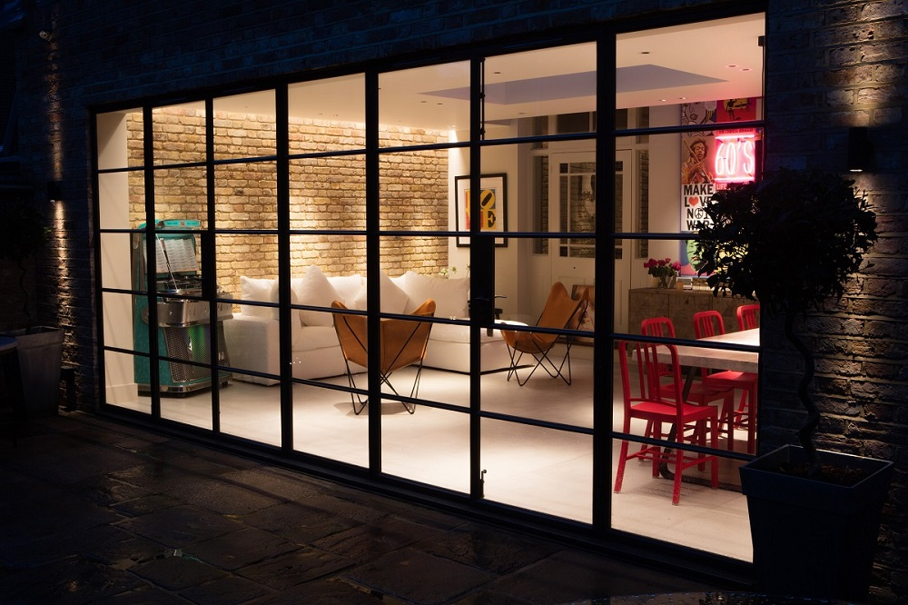 Rear House Extension in London at night