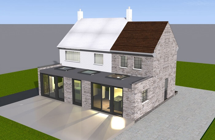 Double storey house extension in Welwyn Garden City, Hertfordshire