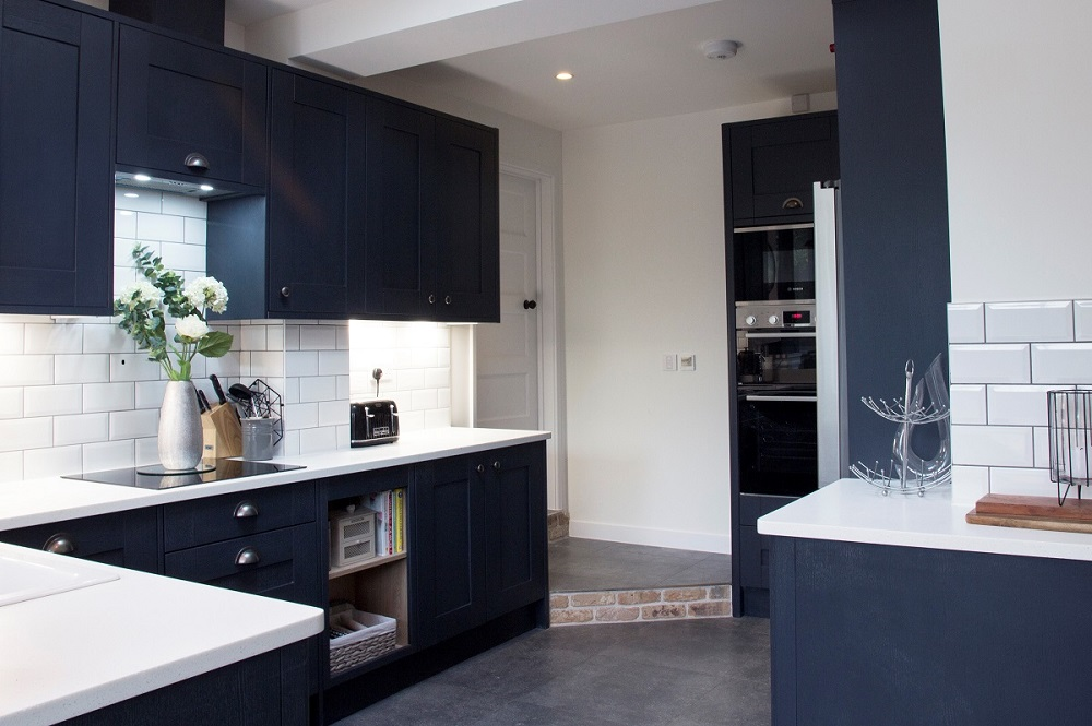Shaker style kitchen in a home extension