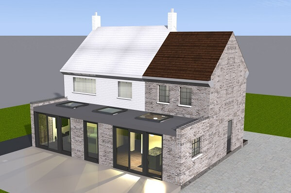 Double storey house extension in north london