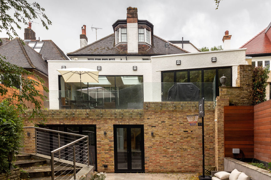 Double storey extension in Hampstead